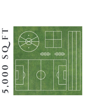 5000 square foot Field