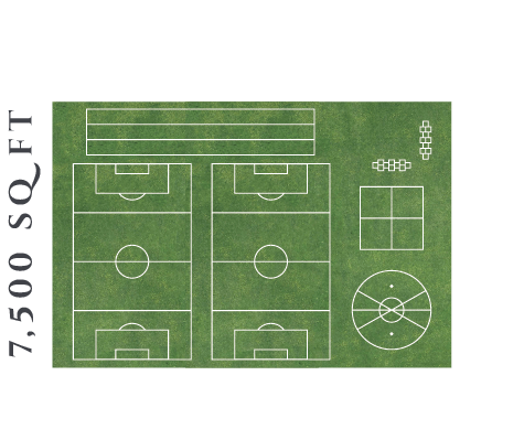 7500 square foot Field