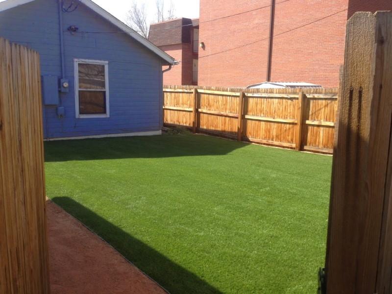 Backyard artificial turf