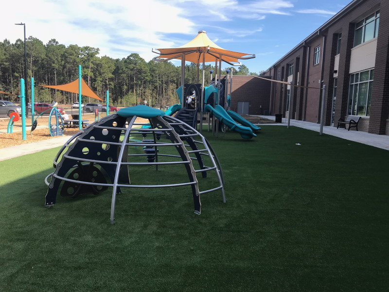 Bowens Corner playground on artificial grass