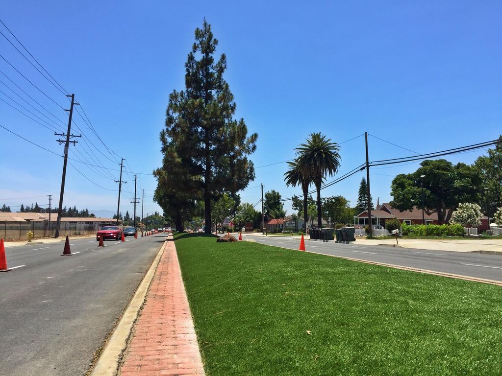 Chino Road median artificial turf