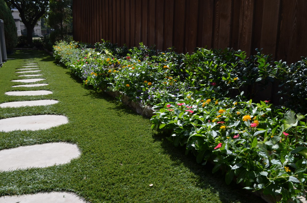 garden with artificial grass