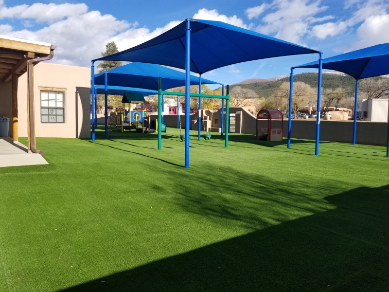 Taos NM Playground on fake grass