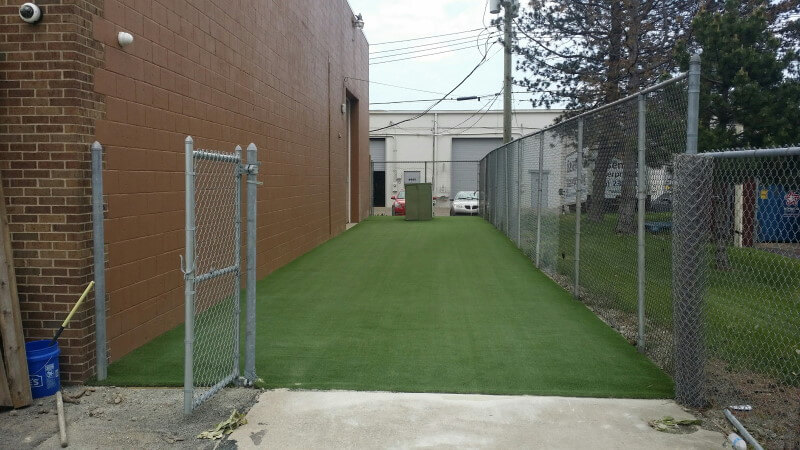 Dirt Paws artificial turf installation