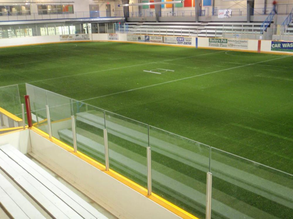 Professional sport field using artificial turf