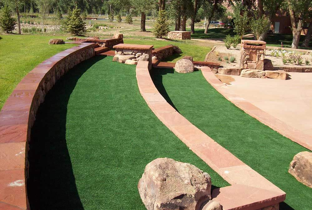 Synthetic turf at public park