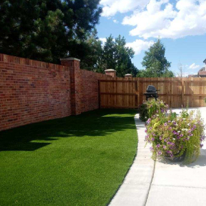 Artificial Grass with Fence Backyard