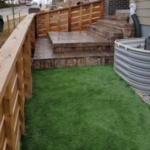 Denver Sideyard with Steps