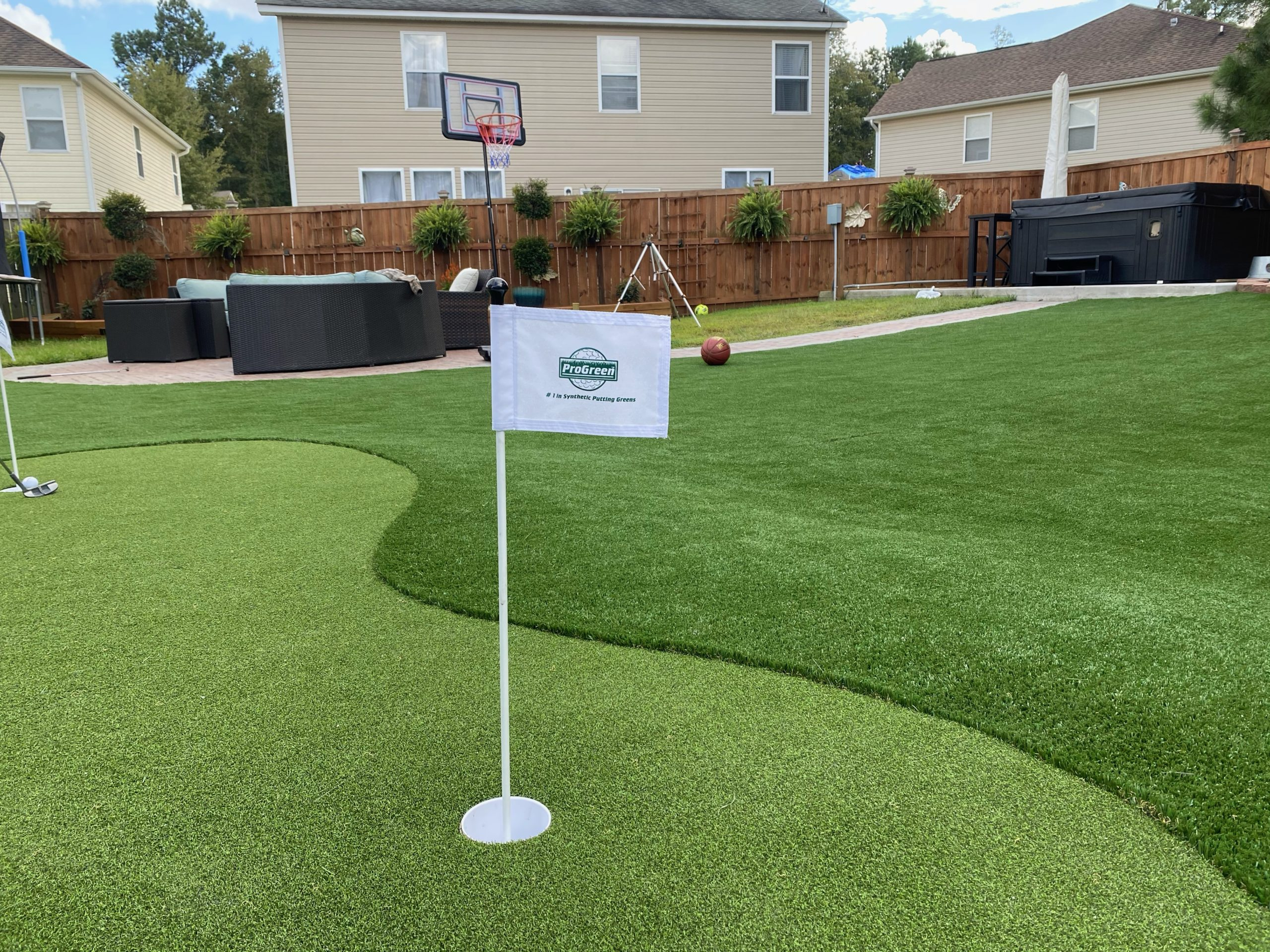 Large backyard putting greens