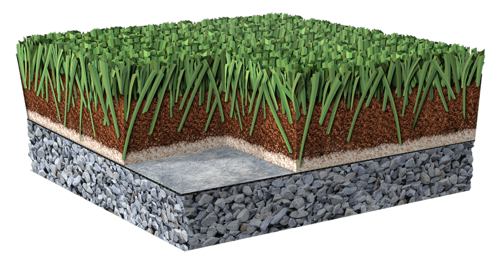Cross Section of ProGreen Artificial Turf