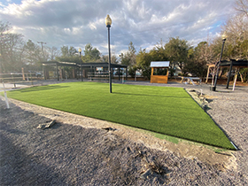 Commercial artificial lawn in Charleston, SC