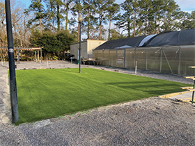Commercial artificial turf installation in Charleston, SC