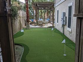 Isle of Palms custom putting green by pool