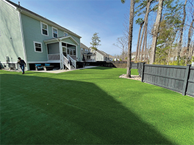 Large artificial lawn in Charleston