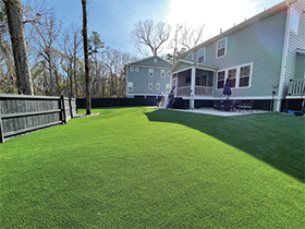 Large artificial lawn in Charleston angle 2