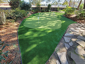 Mount Pleasant, SC artificial putting green installation