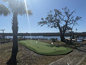 MT Pleasant putting green by water