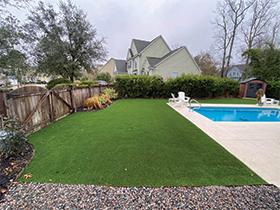Artificial Turf pool area in Charleston, SC