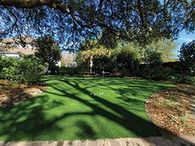 custom putting green installation in Charleston, SC