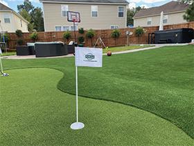 Custom artificial putting green in Summerville, SC