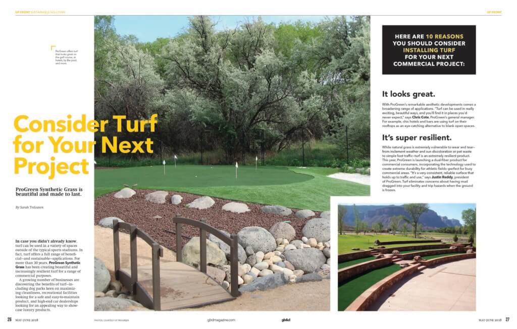 ProGreen Consider Turf for Your Next Project Magazine Page