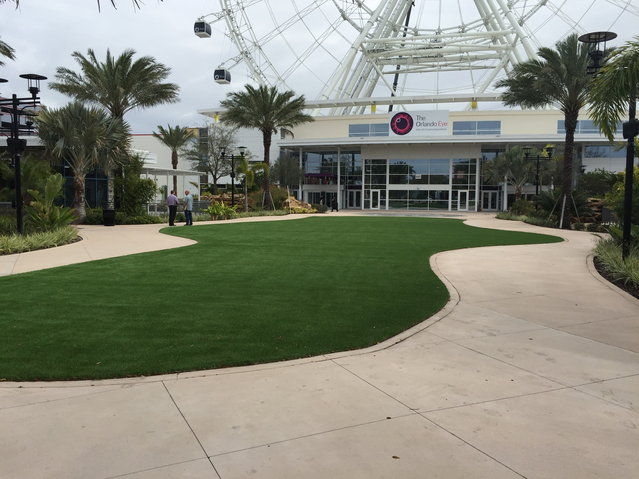large artificial turf space at orlando fairground