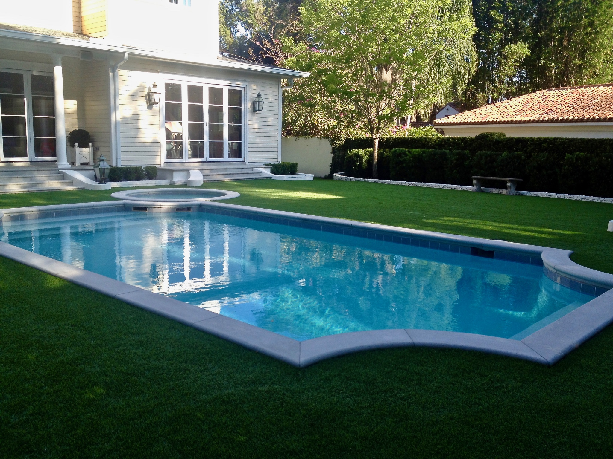 artificial grass pool surround in orlando fl