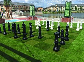 artificial turf chess set