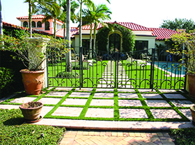 Artificial grass and pavers Winter Park