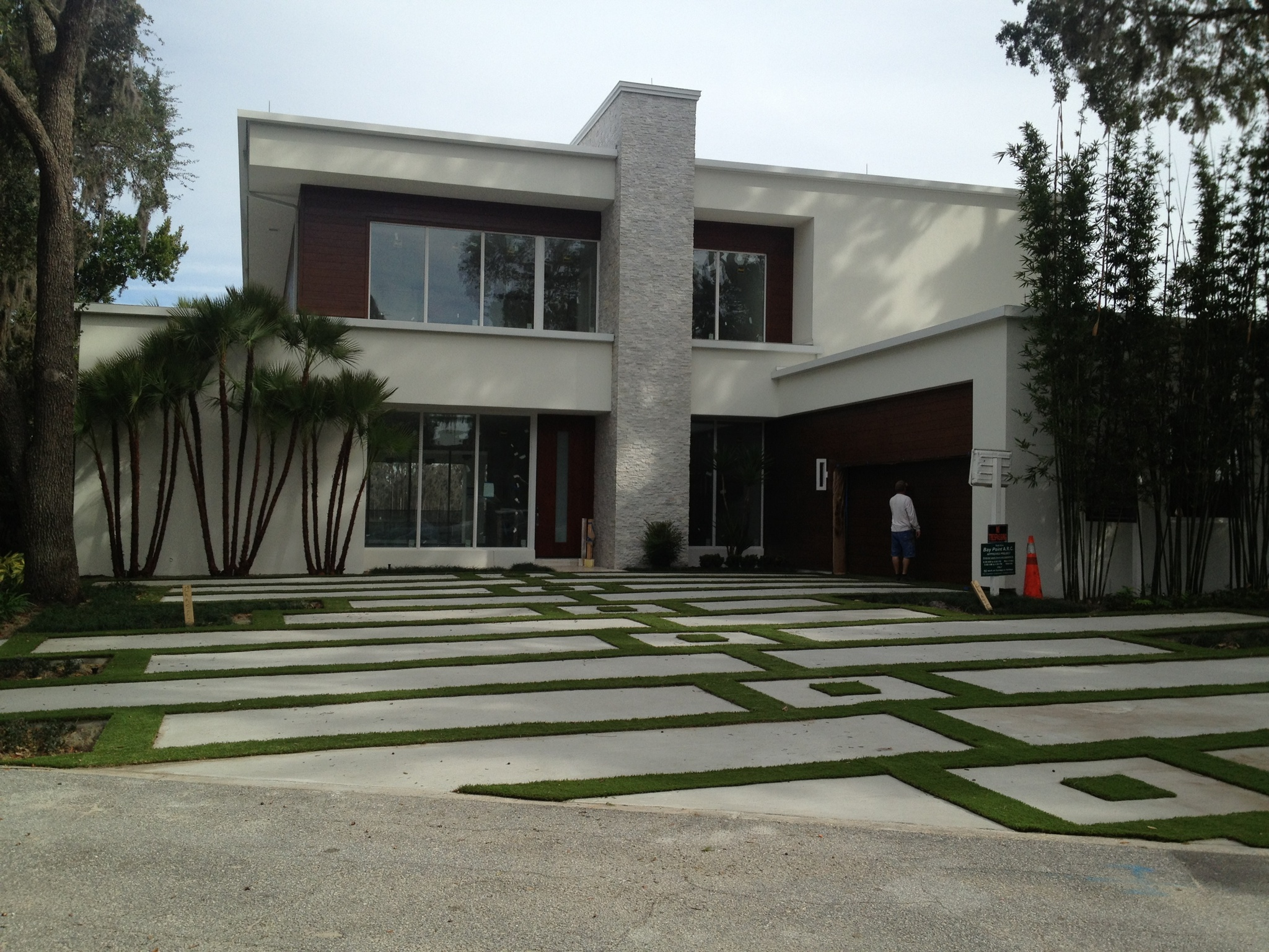 artificial turf and paver driveway in orlando fl