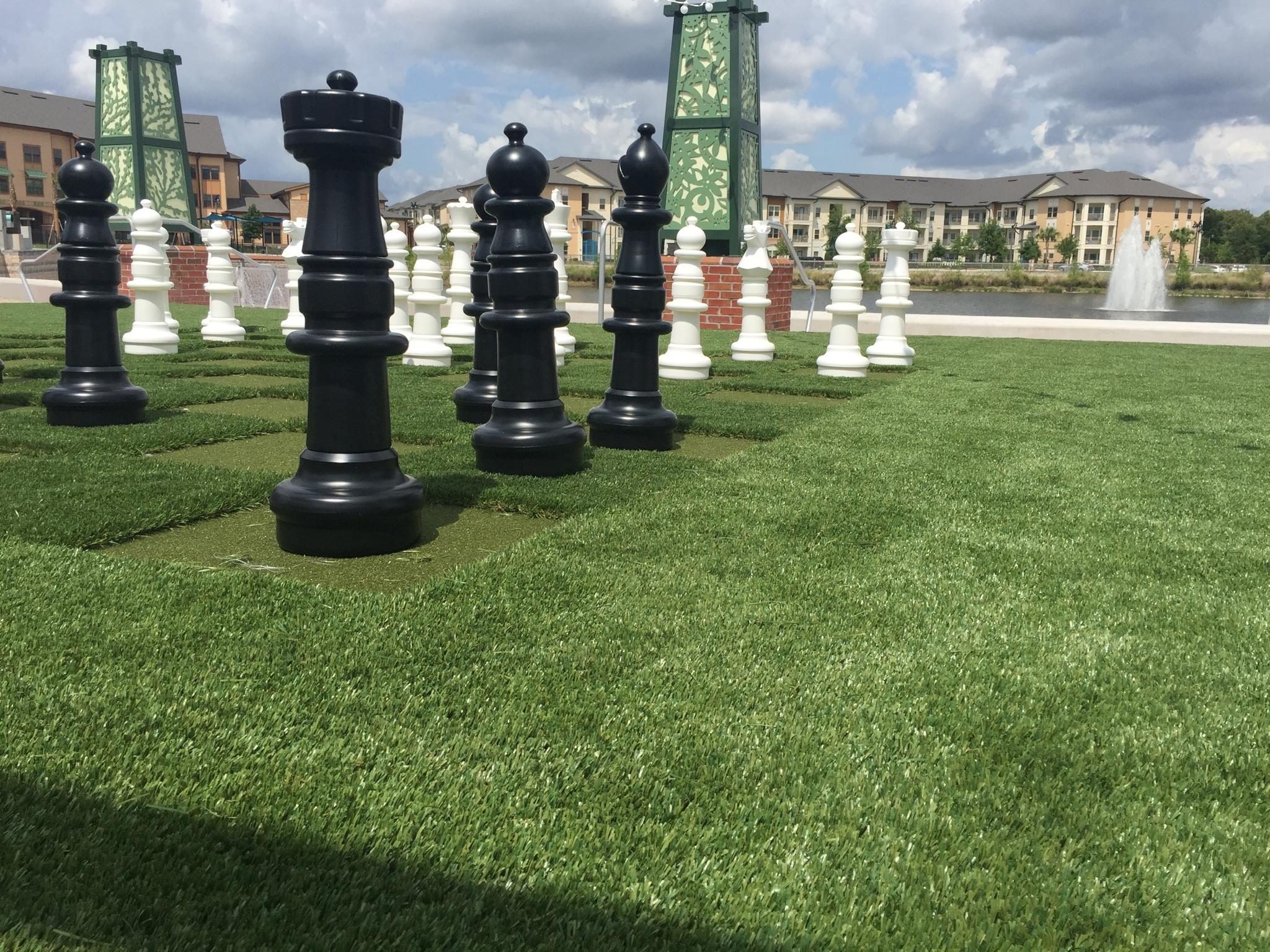 giant artificial grass chess board orlando
