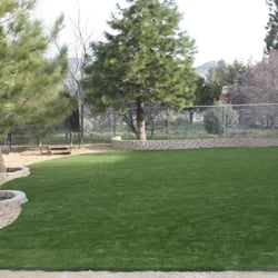Backyard Turf with Garden