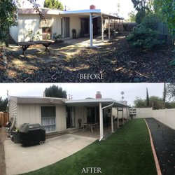 Before and After - Turf Side Yard San Diego