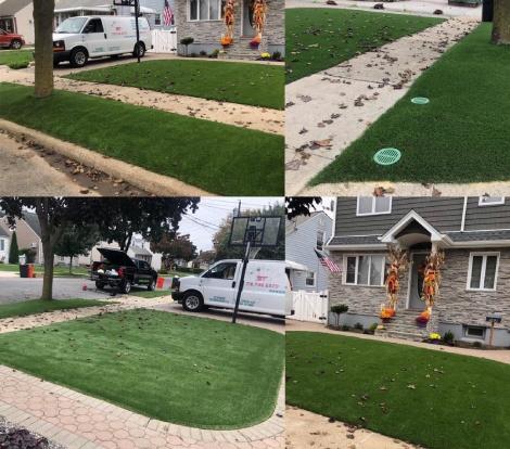 Front Yard Artificial grass Long Island