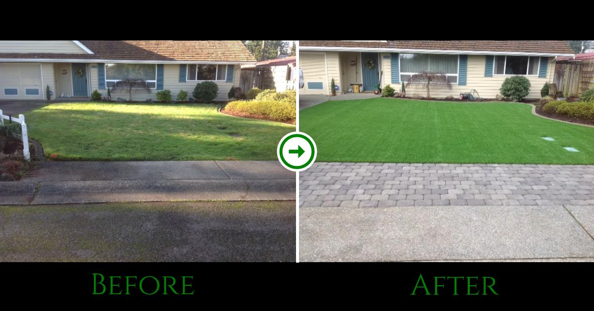 Front Yard Seattle Before and After