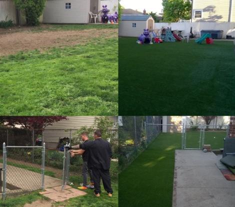 Long Island Backyard Fake Grass