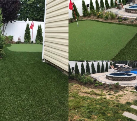 Long Island Backyard Putting Green