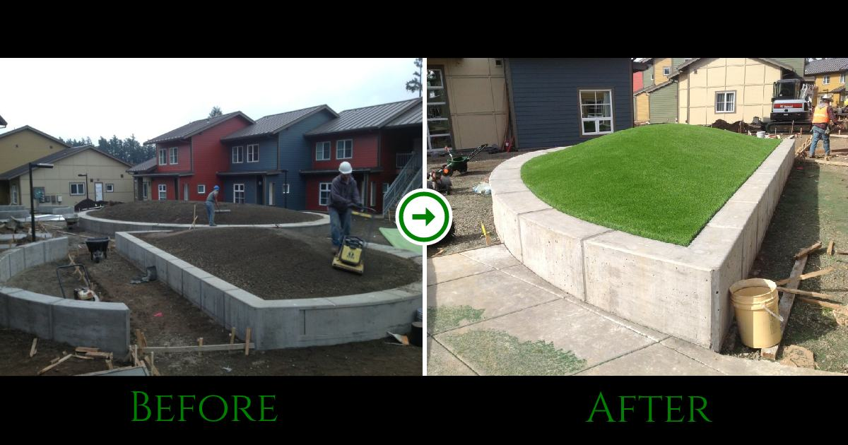 Seattle Raised Garden Beds Before and After