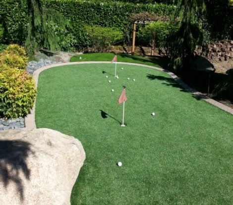 Seattle yard transformed to custom putting green