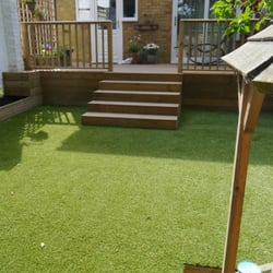 Turf by deck