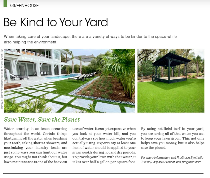 ways to save water - install synthetic turf